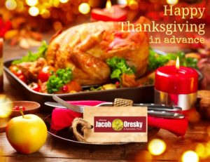 Thanksgiving Wishes from Oresky & Associates, pllc.