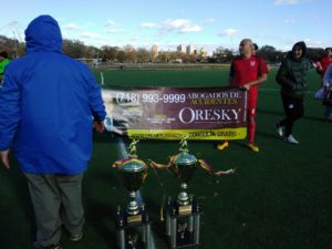 Soccer League, La Liga Estundiantile, awards ceremony Flushing Meadow Park